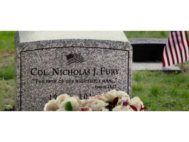 La tomba di Nick Fury in The Winter Soldier