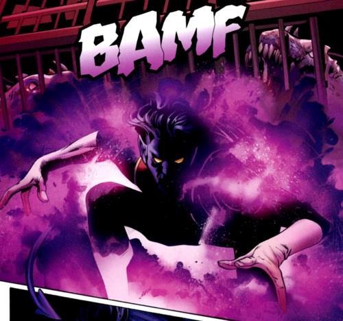 Il mutante Nightcrawler nei fumetti