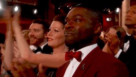 David Oyelowo, commosso, piange agli Oscar 2015