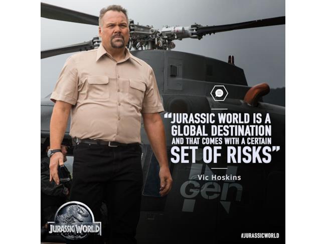 Jurassic World Vic Hoskins