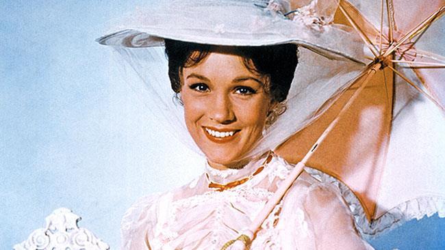 Julie Andrews nel ruolo di Mary Poppins nel film del 1964