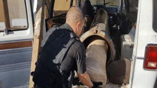 Il bazooka rinvenuto dalle autorità