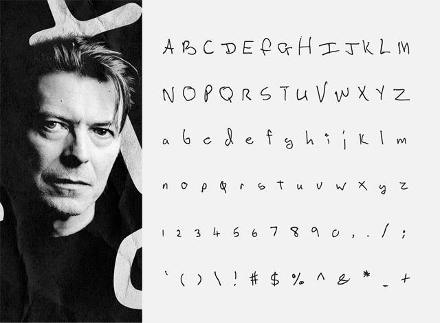 Fra le leggende del rock che hanno ispirato Songwriters font c'è anche Bowie