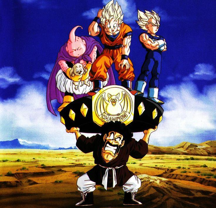 Mr Satan e gli altri protagonisti di Dragon Ball Z