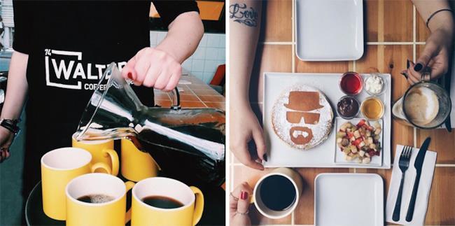 La colazione nel coffee shop a tema Breaking Bad