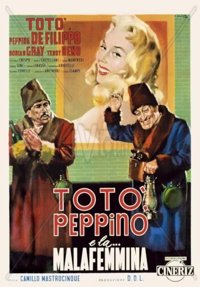 La locandina de Totò, Peppino e... la malafemmina