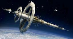 L'immagine di una stazione nello spazio
