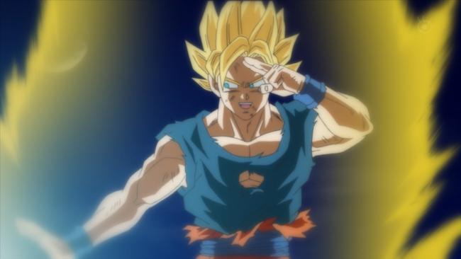 Goku prima di sconfiggere definitivamente Majin Bu