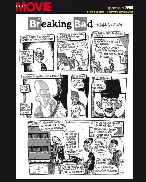 La tavola di Zerocalcare dedicata a Breaking Bad