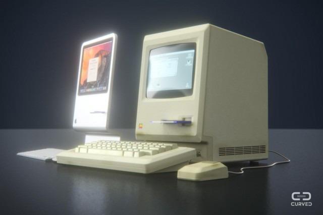 Concept di iMac e il primo Macintosh