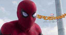 Primo piano di Spider-Man in Spider-Man Homecoming