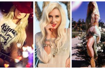 Gli outfit boho-chic di Kesha