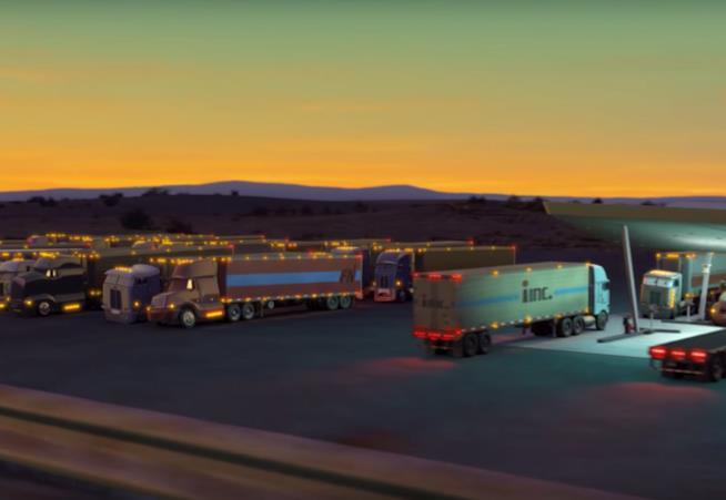 Scena tratta da Cars, Disney Pixar