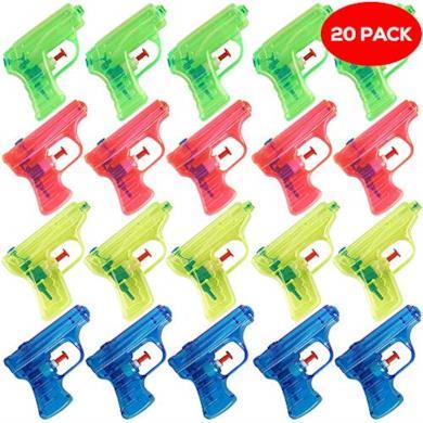20 pistole ad acqua in 4 colori assortiti