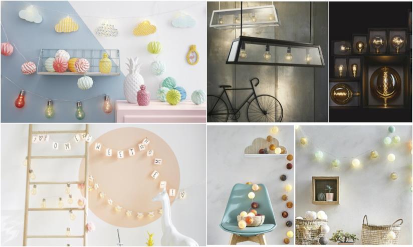 Lampade a forma di palline o lampadine decorative