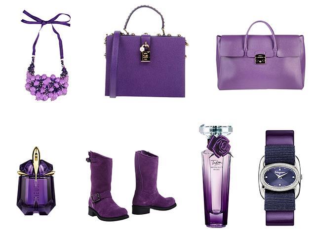 Accessori e profumi in Ultra Violet