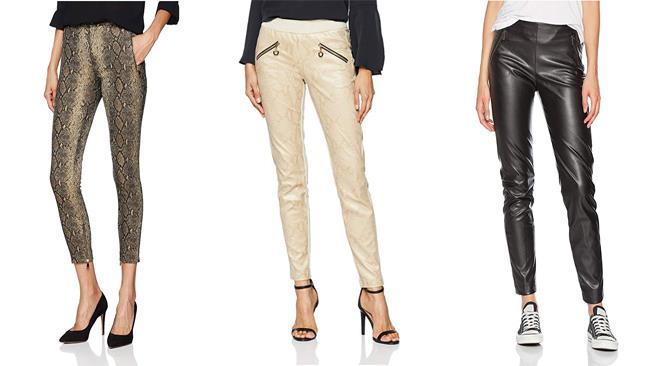 Amazon Moda - Pantaloni di pelle per donne