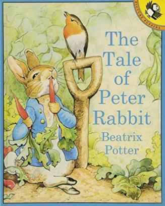 Copertina bianca di Peter Rabbit