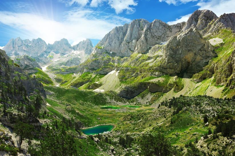Montagne dell'Albania per viaggio con amici