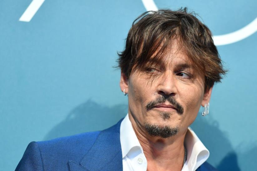 Johnny Depp primo piano al photocall