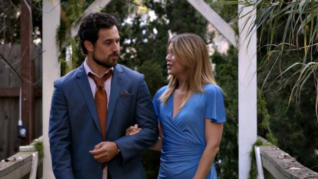 Una scena tra Meredith e Andrew nel finale di Grey's Anatomy 14