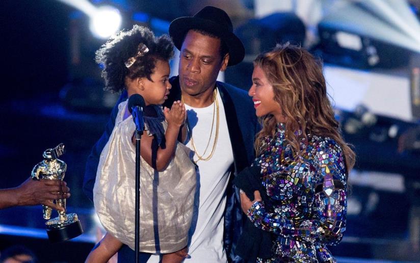 Beyoncé e Jay-Z con la figlia Blue Ivy