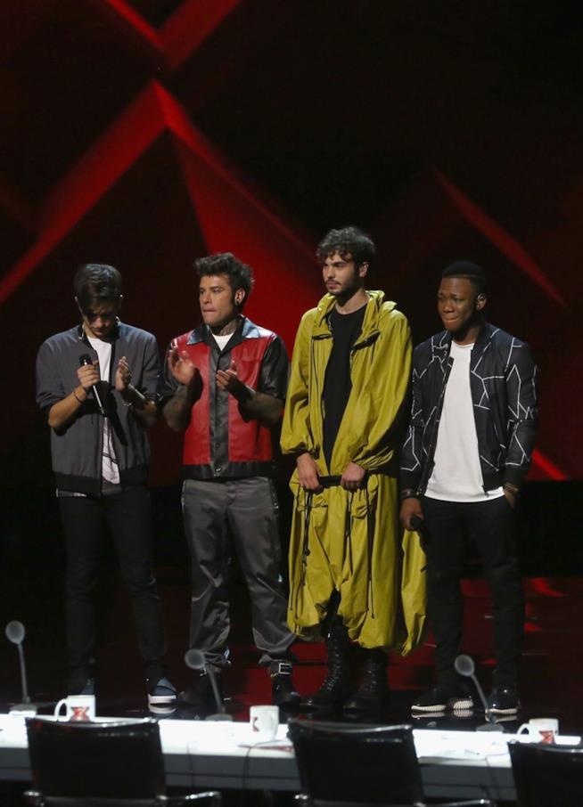 Fedez con la sua squadra a X Factor 11