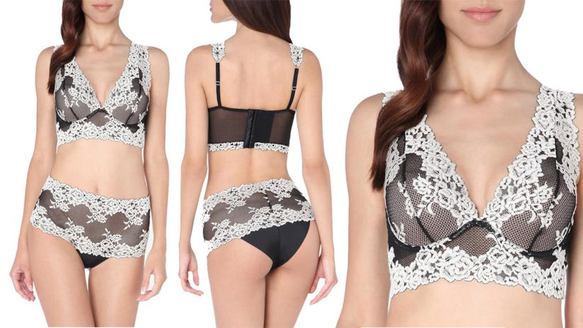 Bralette nera in pizzo Intimissimi Pretty Flowers