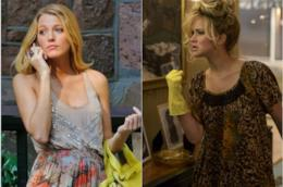 Blake Lively in Gossip Girl e Jennifer Lawrence in American Hustle