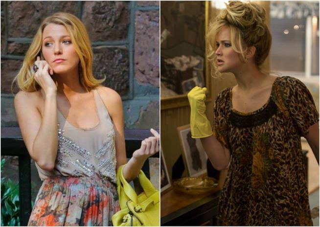 Blake Lively in Gossip Girl e Jennifer Lawrence in American Hustle