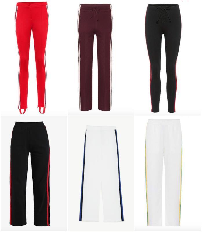Pantaloni con riga o striscia laterale