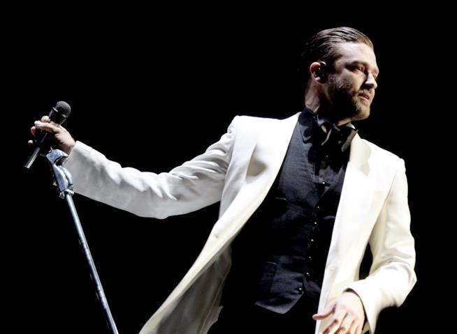 Justin Timberlake durante una performance