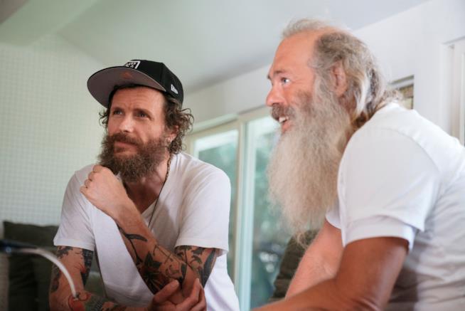Lorenzo Jovanotti in studio con il produttore Rick Rubin