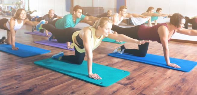 Esercizi Yoga di gruppo