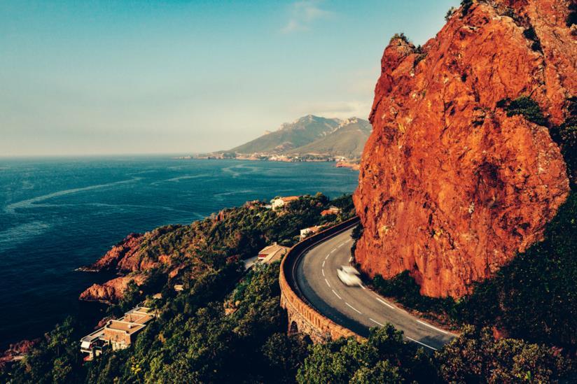 Strada panoramica sulla Riviera francese