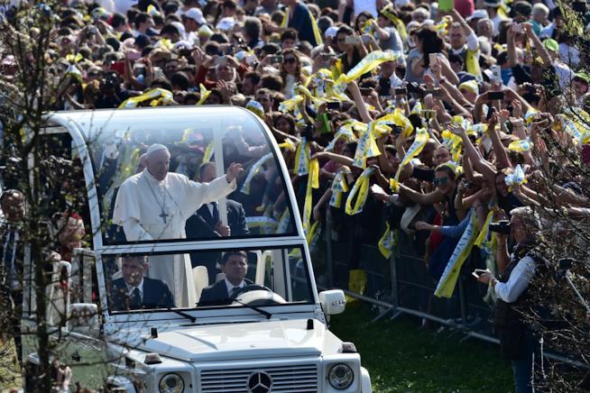 Il Papa in visita a Monza nel 2017