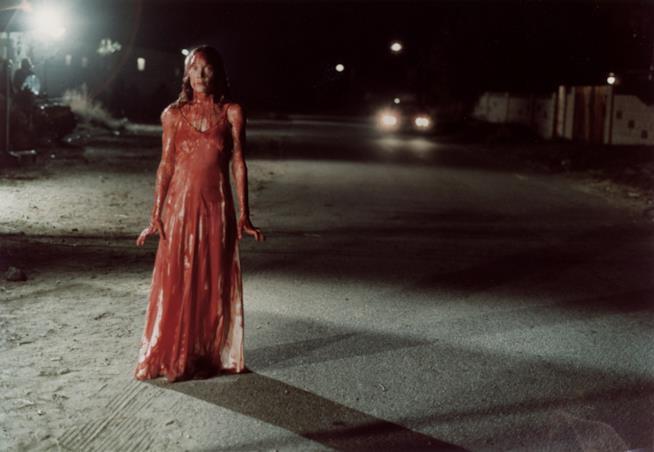 La furia vendicativa di Sissy Spacek, in una scena di Carrie - Lo sguardo di Satana