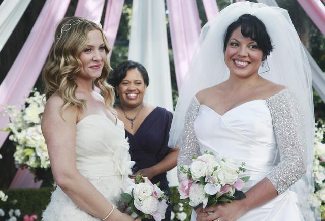Una scena dal matrimonio di Callie e Arizona in Grey's Anatomy