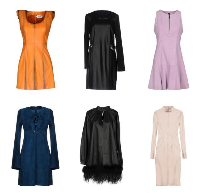 In pelle, gli abiti di tendenza A/I 2018-2019