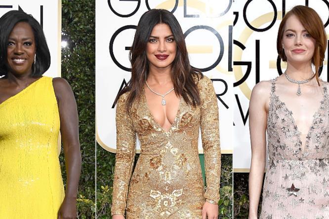 Viola Davis, Priyanka Chopra, Emma Stone ai Golden Globes 2017