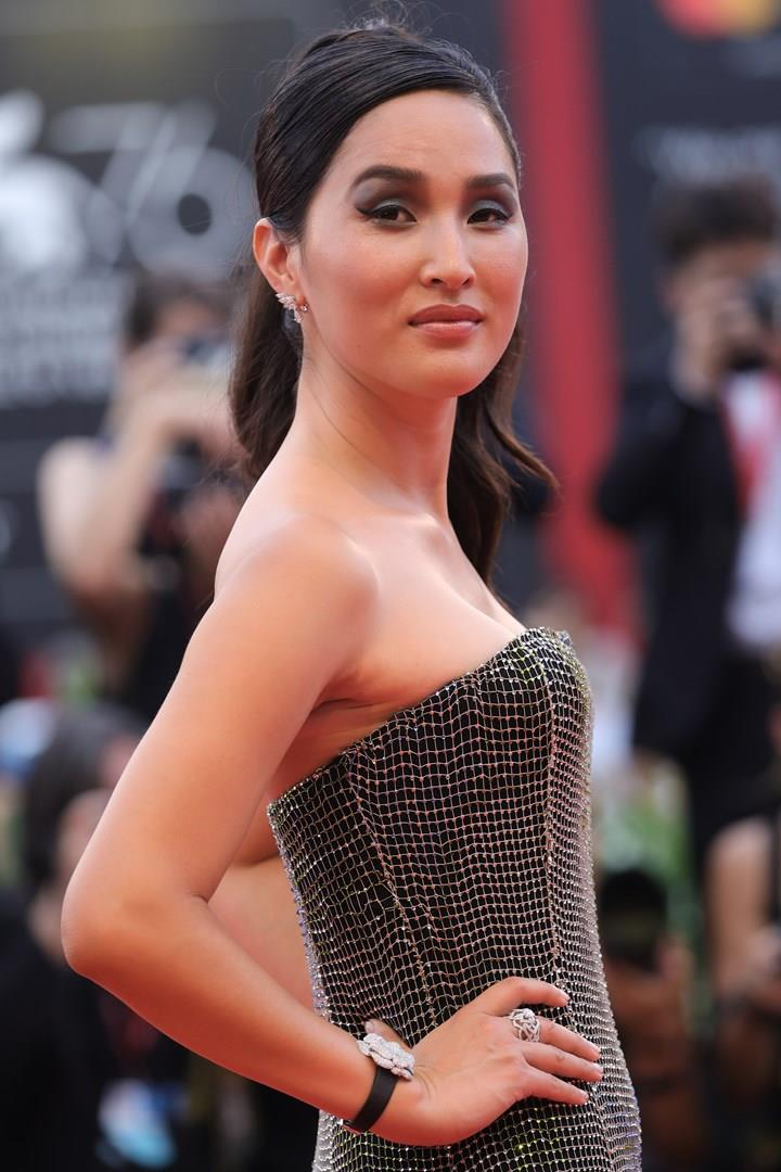 Nicole Warne sul red carpet di Venezia