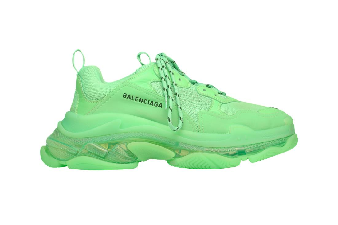 Scarpa Balenciaga Triple S Neon Green