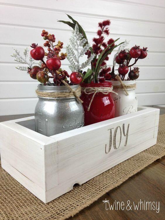 Barattoli di Natale riciclati
