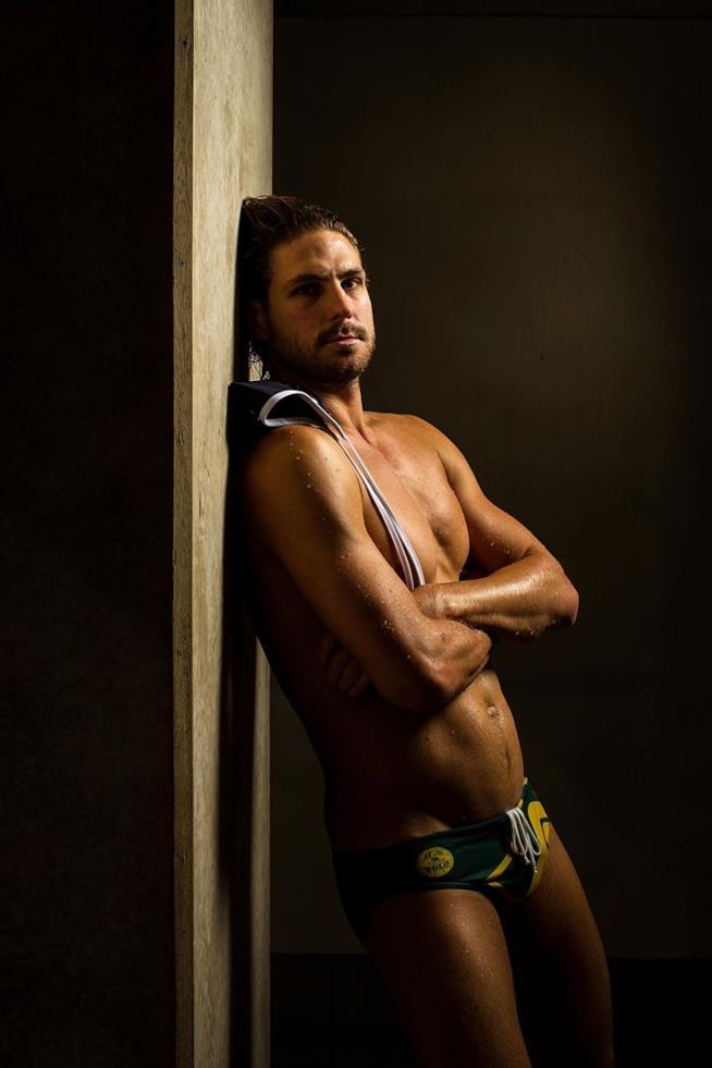 Rhys Howden in una foto realizzata per la nazionale australiana: gli Sharks