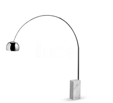 Flos Arco, lampada da terra design Castiglioni