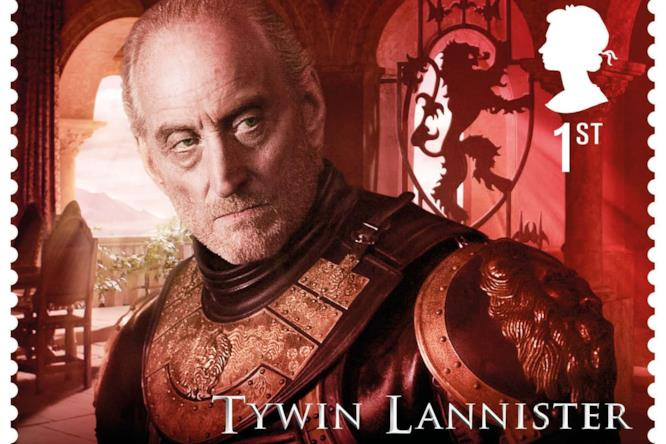 Tywin Lannister in uno dei francobolli Royal Mail