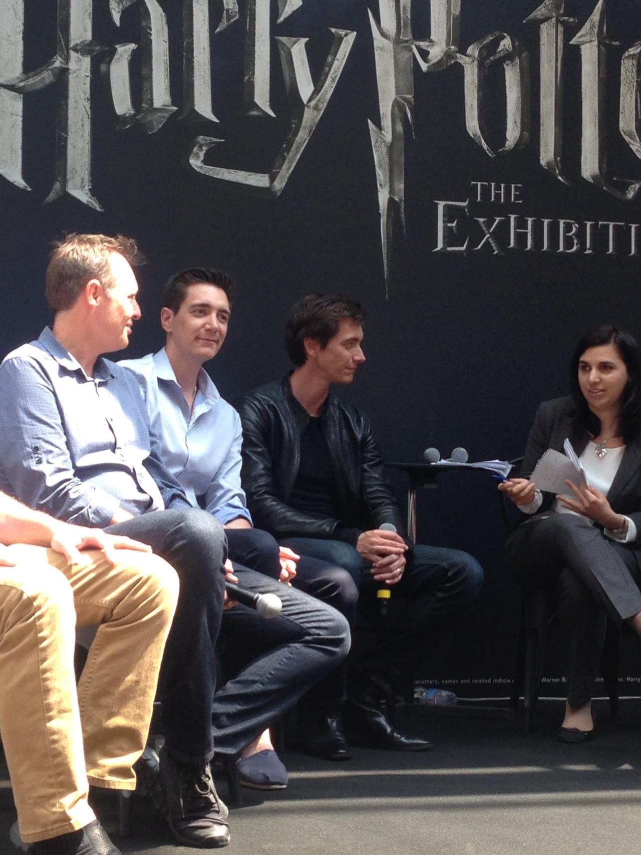 I gemelli Weasley alla conferenza della mostra di Harry Potte