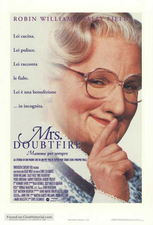 Il poster ufficiale di Mrs Doubtfire