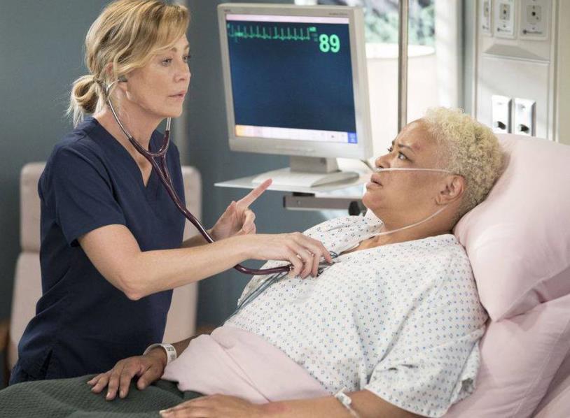 Meredith e la sua paziente Cece