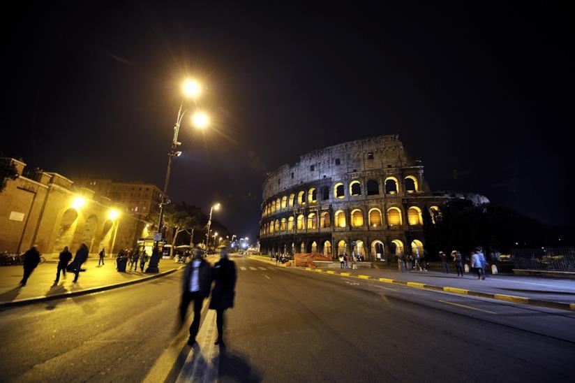 Il Colosseo, a Roma.